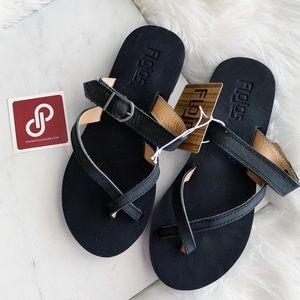 Flojos • Criss Cross Leather Sandals